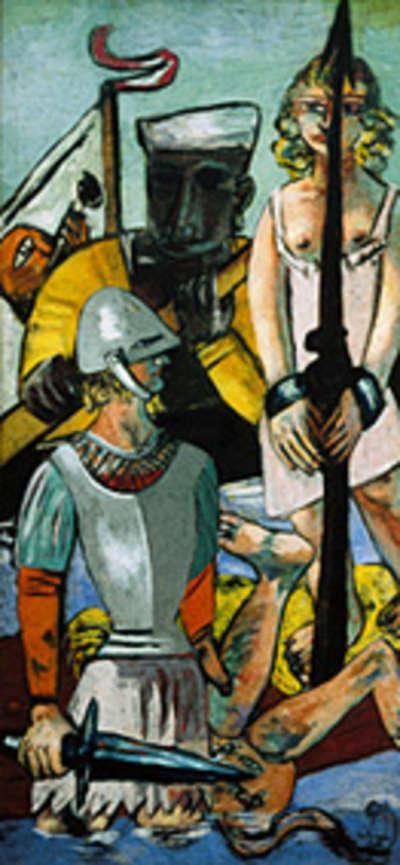 Versuchung (Versuchung des Heiligen Antonius) Triptychon - linker Teil
