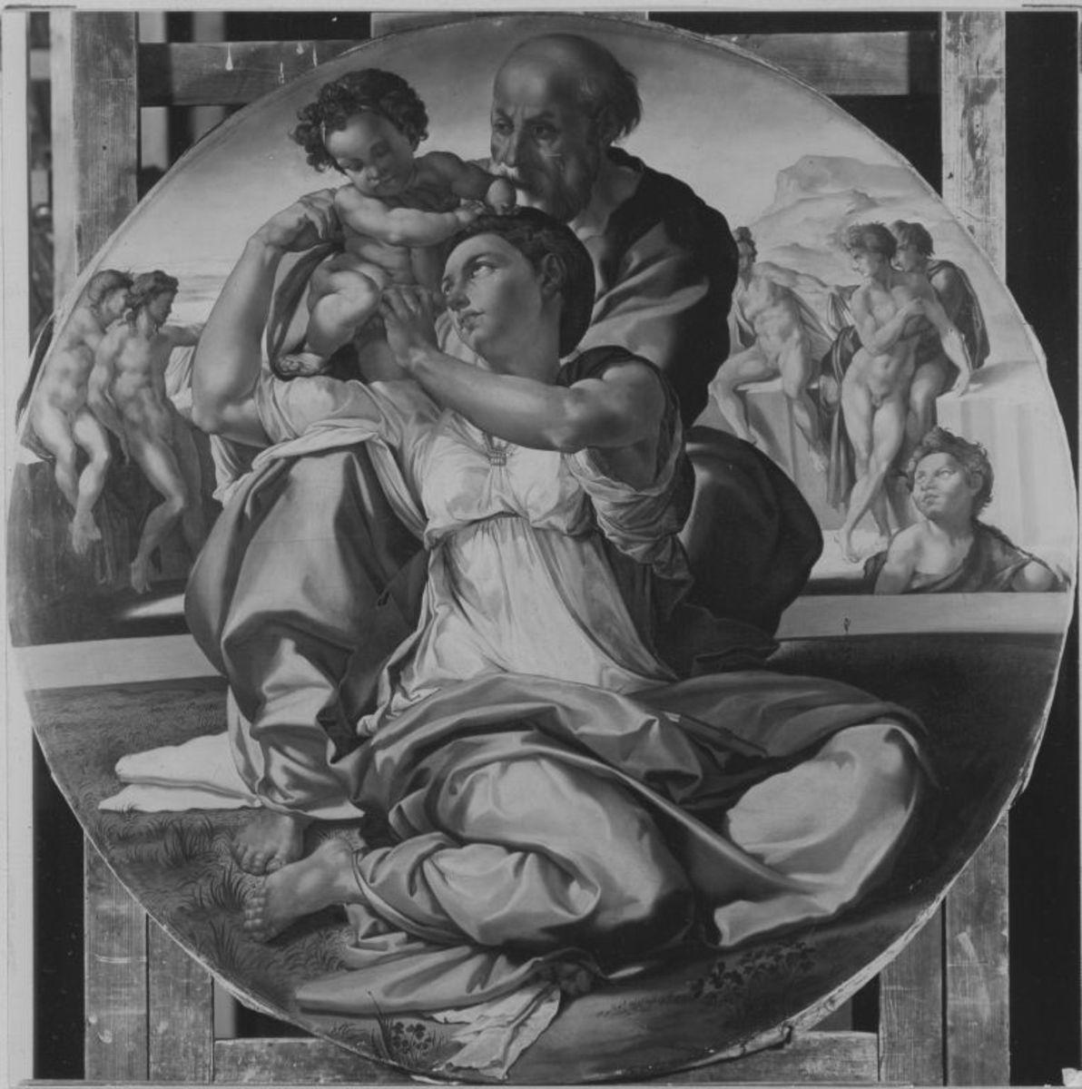 Die Madonna des Angelo Doni (nach Michelangelo)
