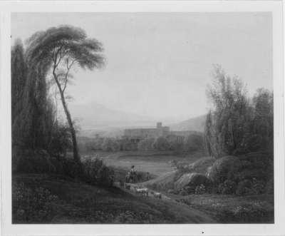 Kloster in südlicher Landschaft