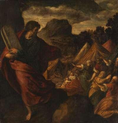 Moses bringt die Gesetzestafeln