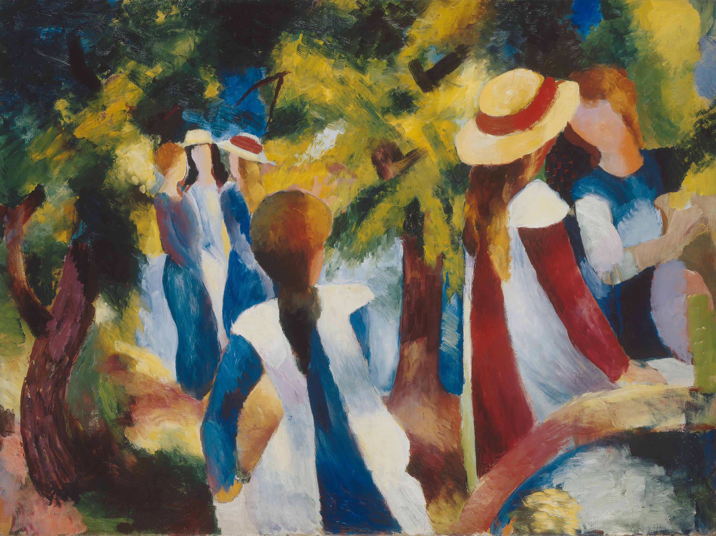Mädchen unter Bäumen