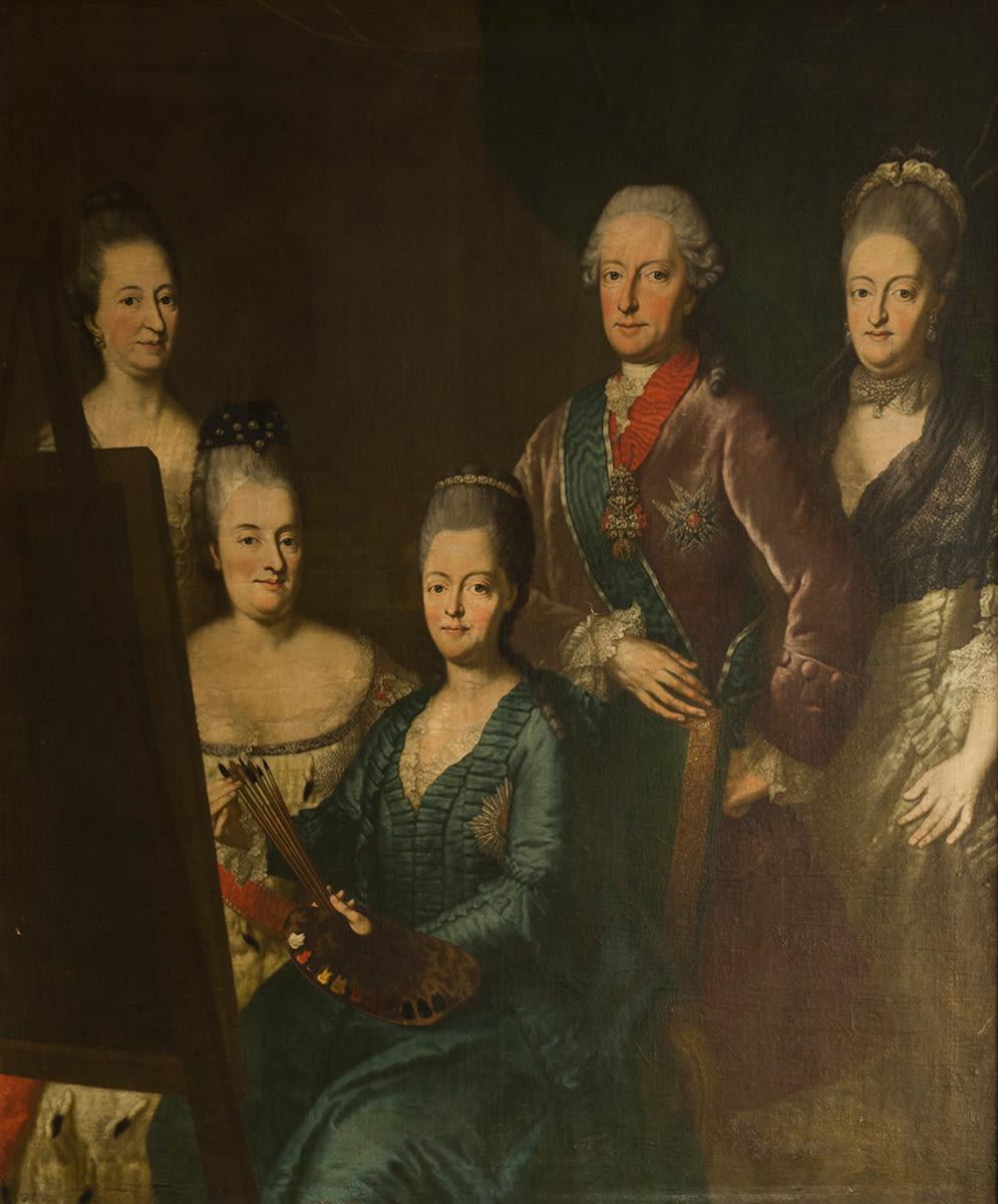 Bildnis des Kurfürsten Maximilian III. Joseph von Bayern mit seiner Gemahlin und seinen Schwestern