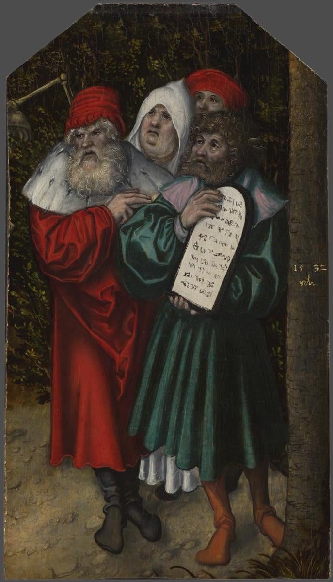 Moses und Aaron mit zwei Propheten (Fragment einer Allegorie auf Gesetz und Gnade)