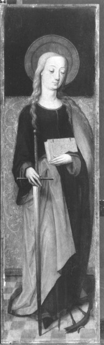 Altarflügel: Hl. Katharina