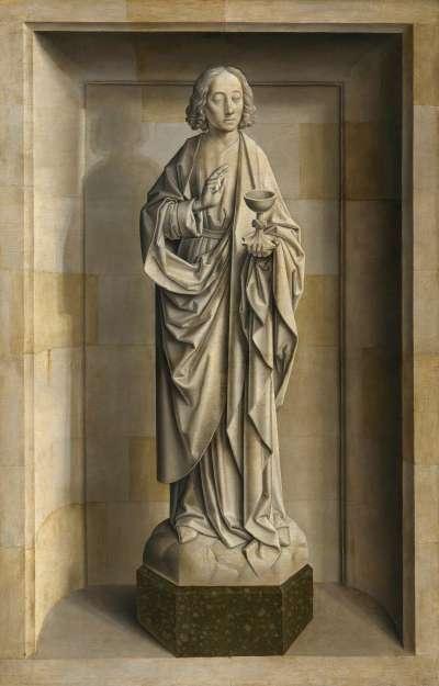 Tafel eines Flügelaltares: Johannes Evangelist