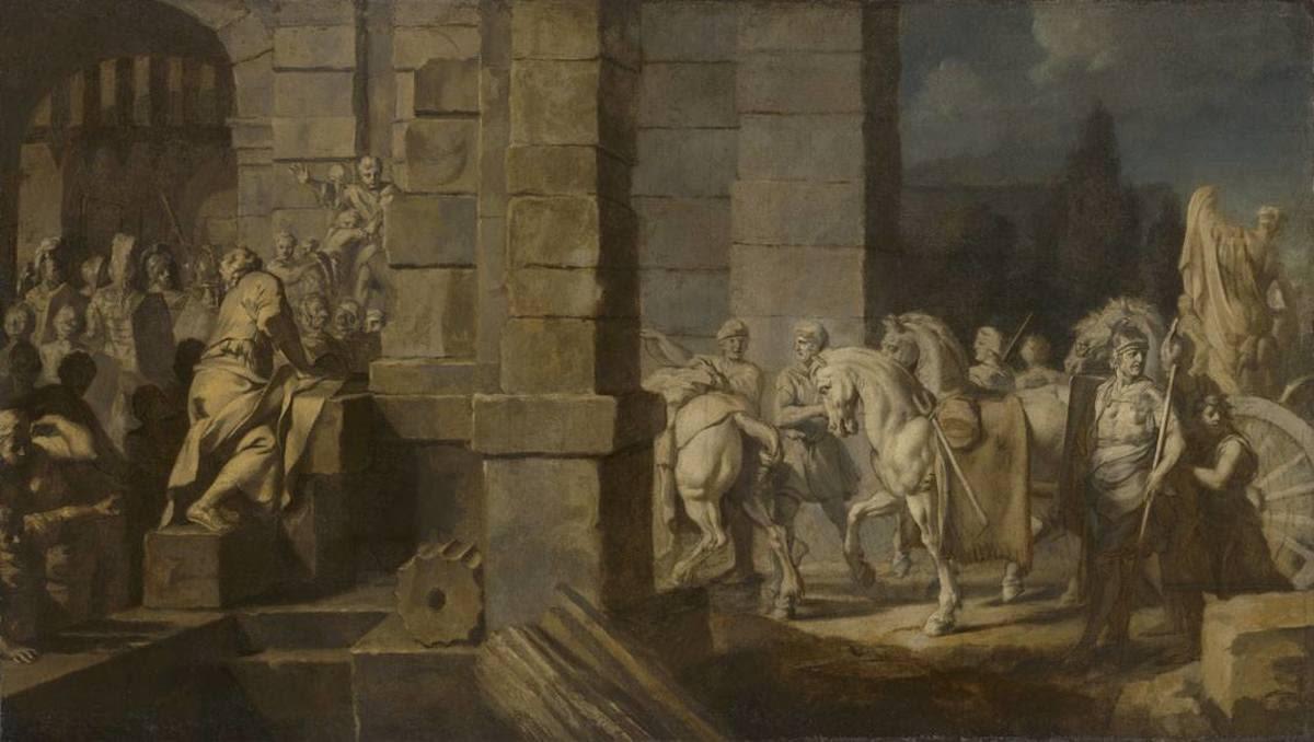 Triumphzug Alexanders des Großen: Einzug durch das Stadtor (Folge 1/12)