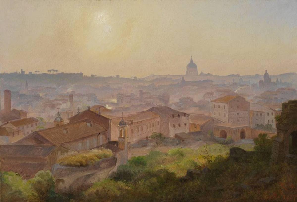 Blick vom Palatin auf Rom