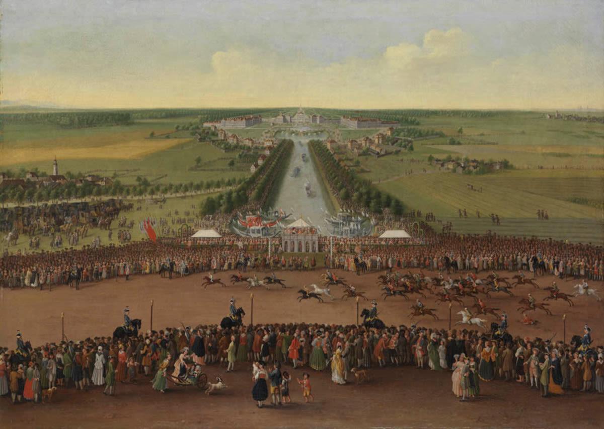 Pferderennen bei Nymphenburg