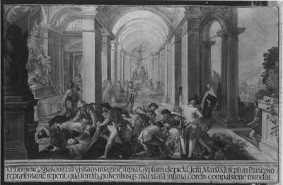 Plünderung in der Klosterkirche von Strakowitz