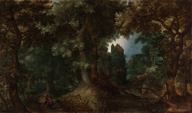 Waldlandschaft mit der Verstoßung von Hagar und Ismael