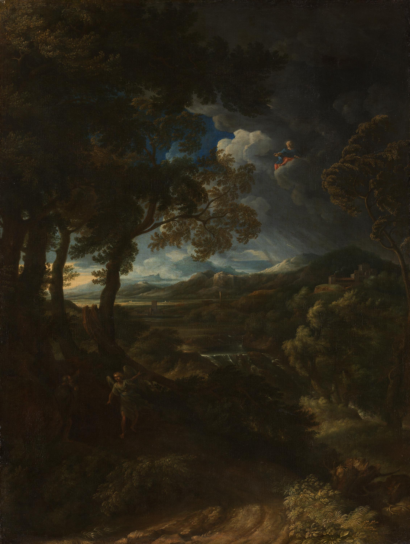 Italienische Landschaft mit Elias und dem Engel