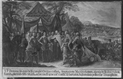 Ansprache des Paters an den Herzog und die Generäle