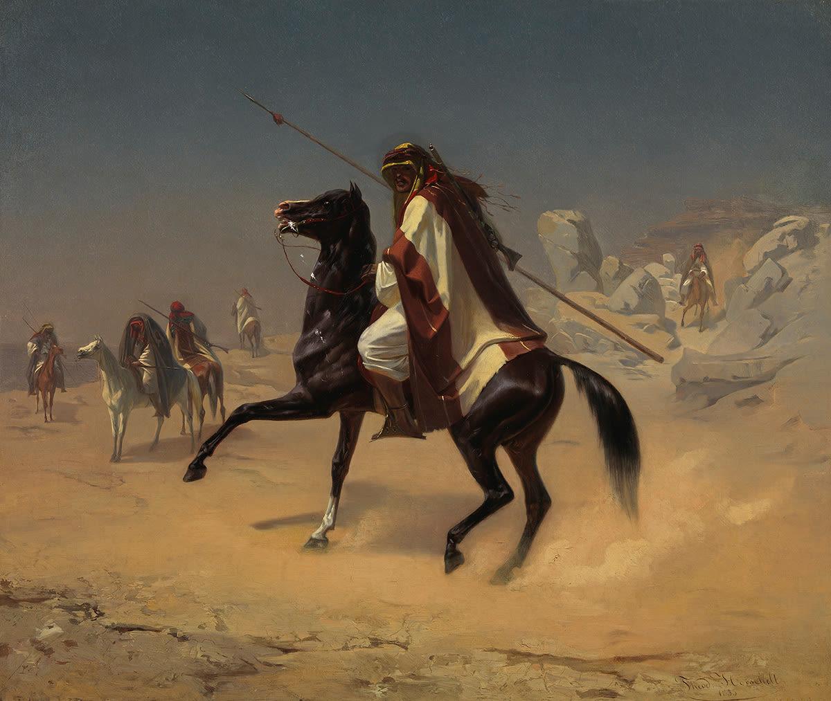 Ein Araber zu Pferd