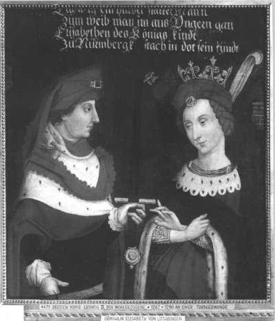 Bildnis des Herzogs Ludwig III. der Wohlerzogene von Bayern mit Gemahlin