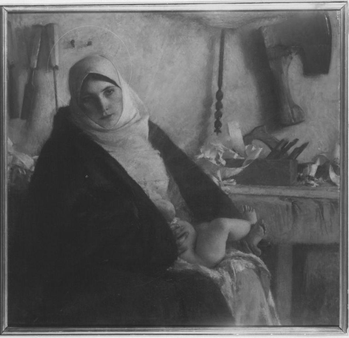 Die Madonna mit dem Hobel