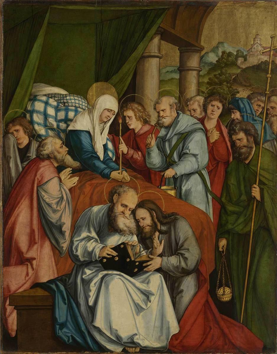 Christgartner Altar: Tod Mariens