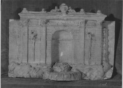 Modell des ersten Entwurfs für den Vater- Rhein-Brunnen in Köln