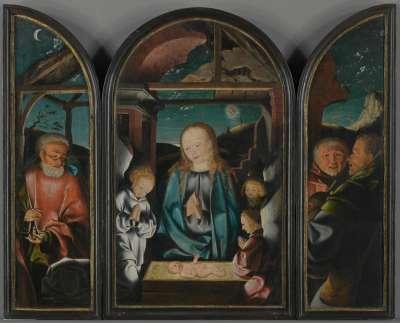 Triptychon mit Anbetung des Christkindes