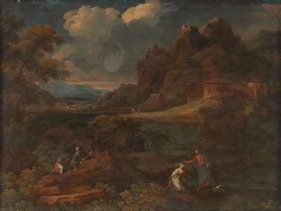 Landschaft mit Christus und Maria Magdalena (Noli me tangere)