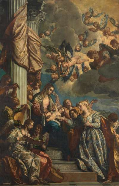 Vermählung der hl. Katharina (nach Veronese)