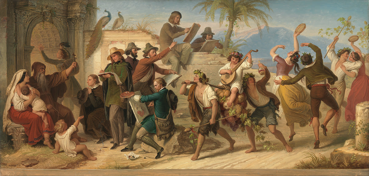 Das Studium der deutschen Künstler neuerer Zeit in Rom