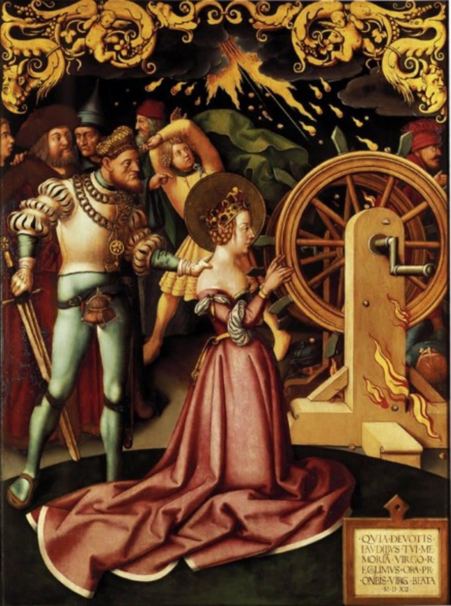 Katharinenaltar: Martyrium der hl. Katharina