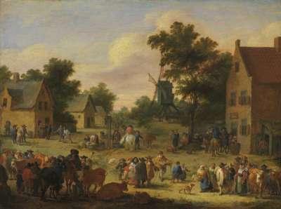 Viehmarkt im Dorfe