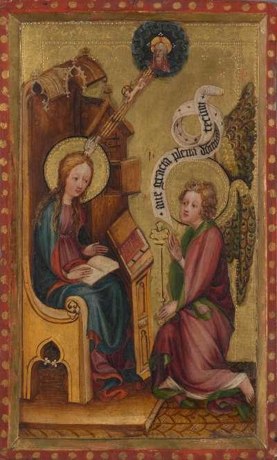 Die Verkündigung an Maria  Rückseite: Teil einer Anbetung der Könige