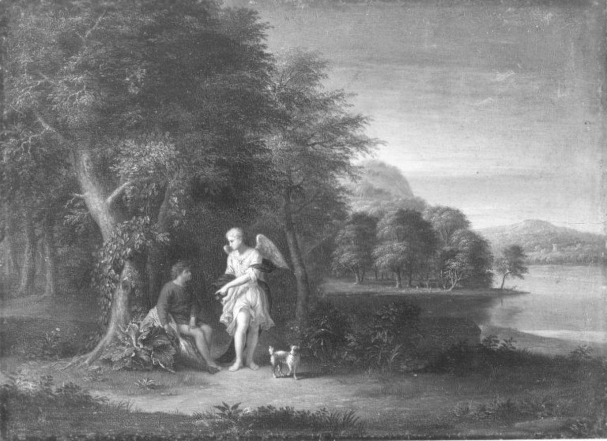Landschaft mit Tobias und Engel