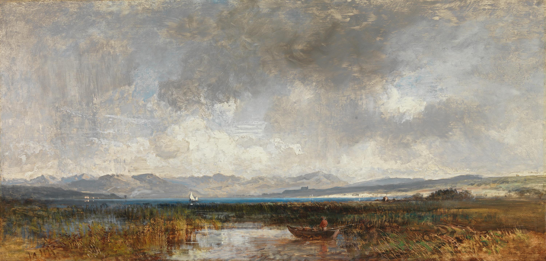 Der Ammersee mit dem Blick auf das Gebirge