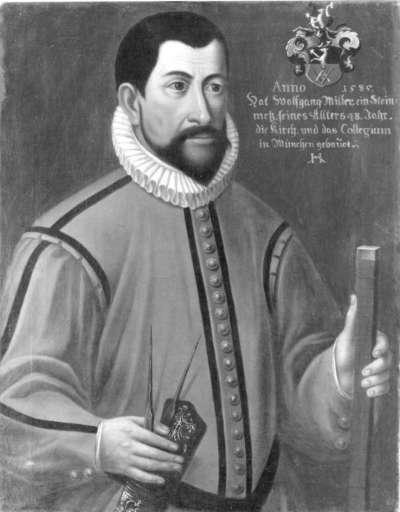 Bildnis des Steinmetz Wolfgang Müller als Baumeister der Jesuitenkirche München