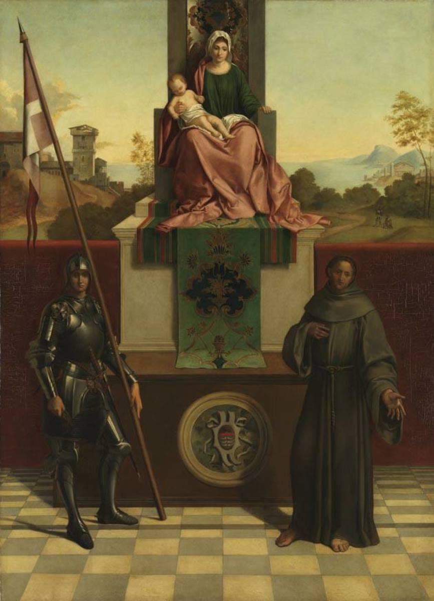 Thronende Madonna mit den Heiligen Liberale und Franziskus (nach Giorgione) (Pala di Castelfranco)