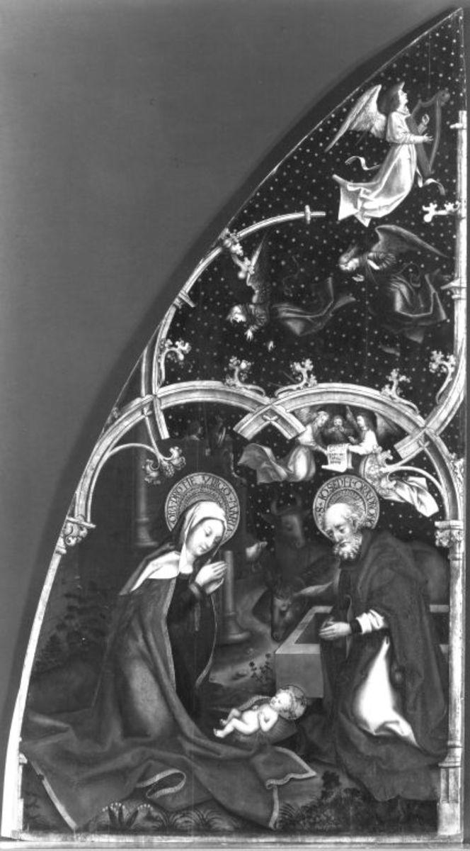 Basilika Santa Maria Maggiore, linke Tafel: Geburt Christi