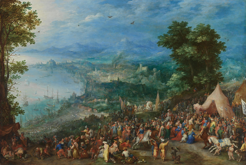 Ansicht einer Hafenstadt mit der Enthaltsamkeit des Scipio
