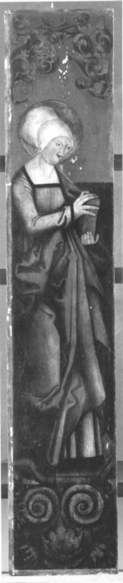 Hl. Magdalena (Rückseite: Rest eines Strahlenkranzes)