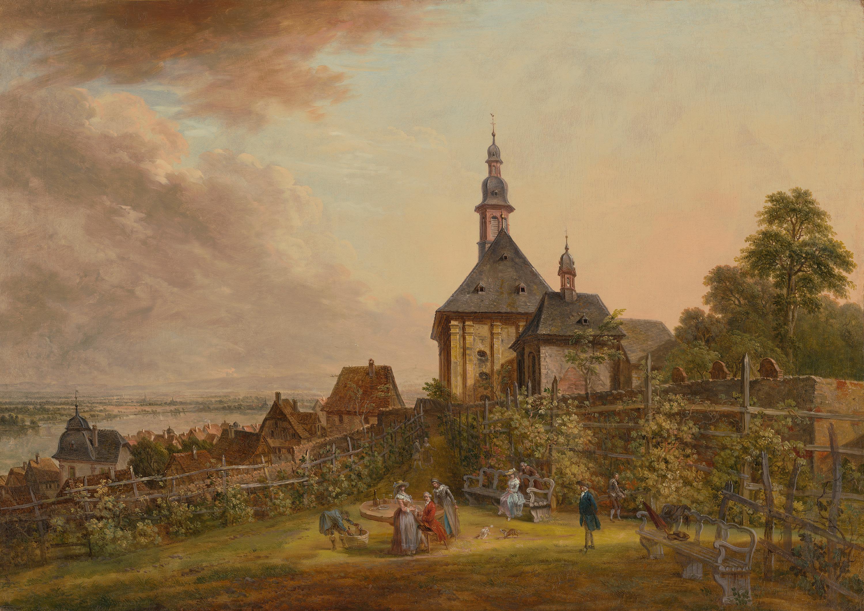 Ansicht der Weisenau bei Mainz