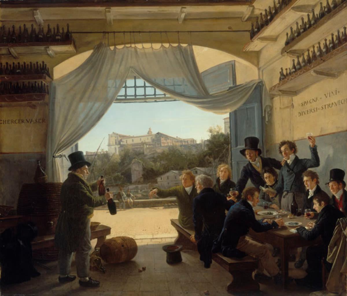 Kronprinz Ludwig in der Spanischen Weinschänke zu Rom