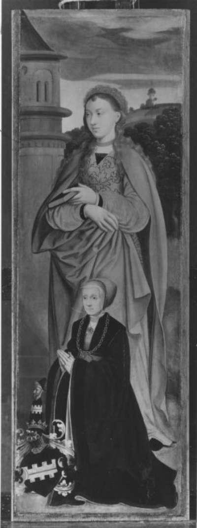 Rinck-Altar II: Hl. Barbara und die Stifterin Sibylla Rinck, geb. Kannegießer