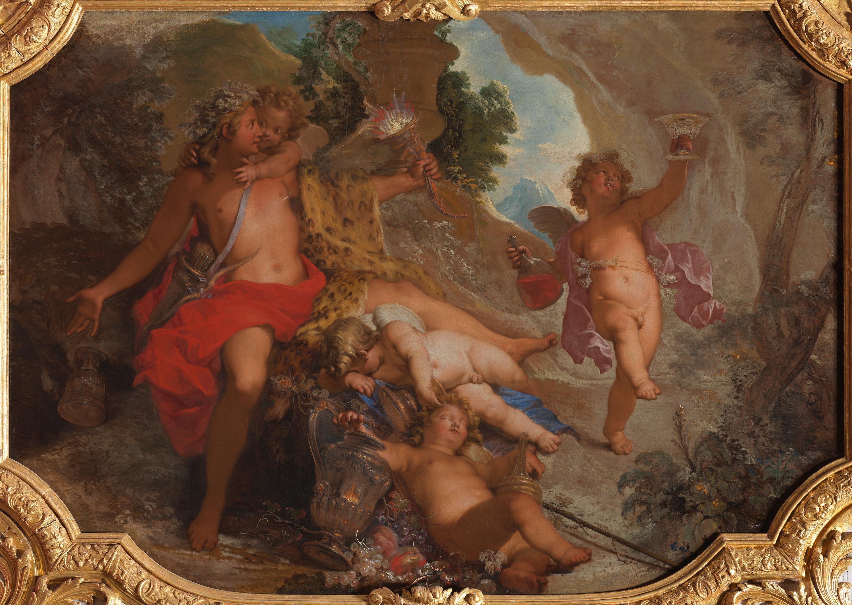 Bacchus mit vier Putten