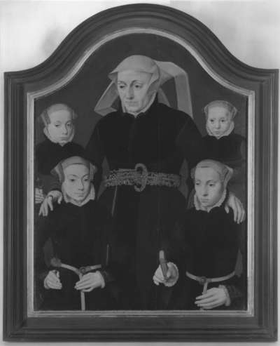 Familienbildnis: Eine Mutter mit vier Töchtern