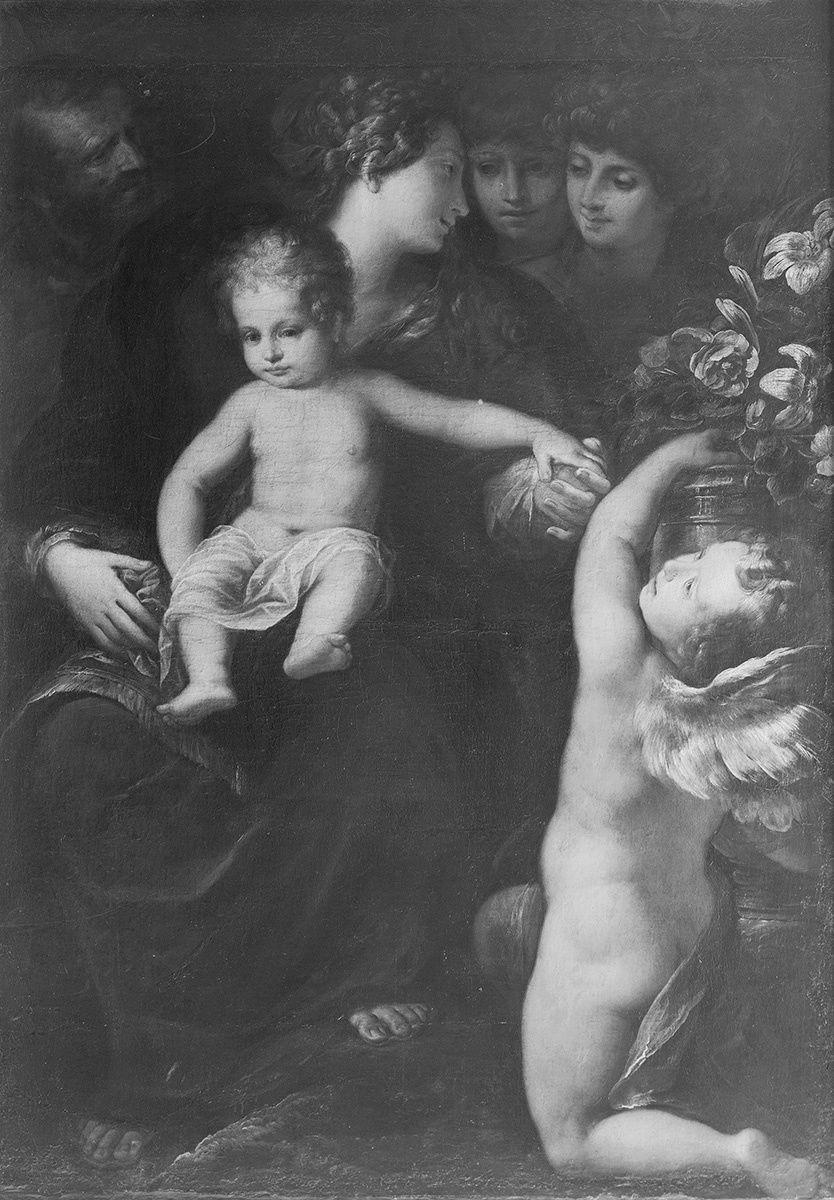 Heilige Familie mit Engel