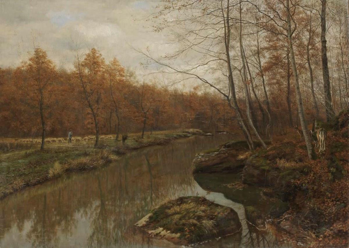 Waldbach im Spätherbst
