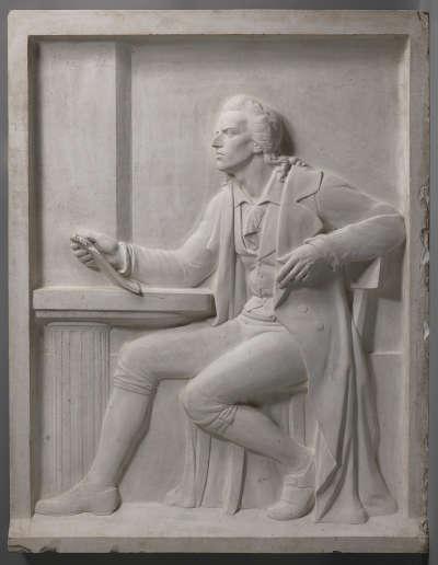 Relief für das Schiller-Denkmal in Nürnberg
