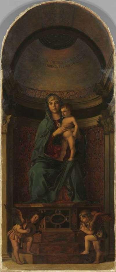 Thronende Madonna mit Engeln und Heiligen (nach Giovanni Bellini) (Frari-Triptychon)