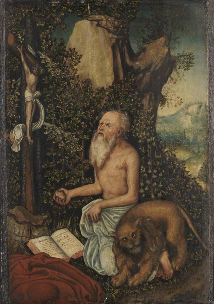 Hl. Hieronymus als Büßer