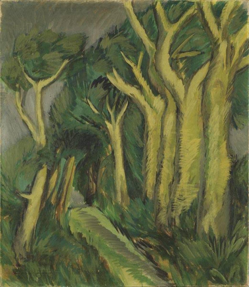 Weg zwischen Bäumen