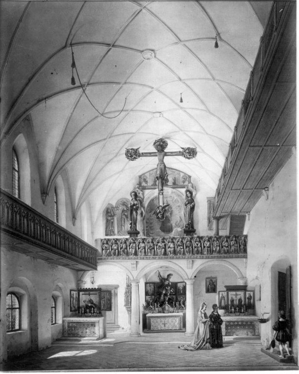 Das Innere der Trausnitzkapelle in Landshut