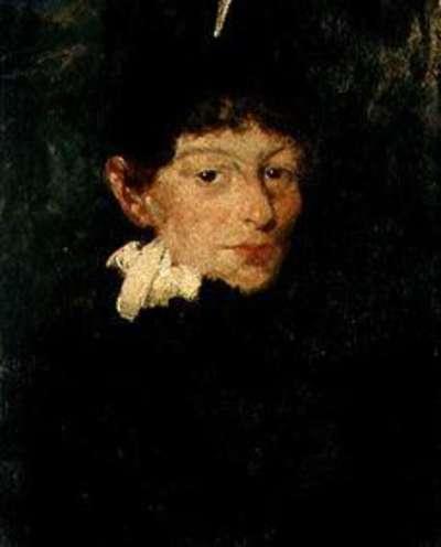 Weiblicher Studienkopf (Margarethe Weger?)