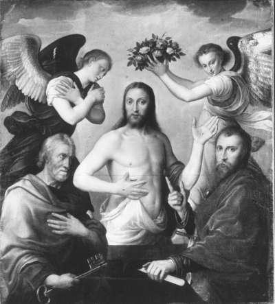 Christus zwischen den hll. Petrus und Paulus