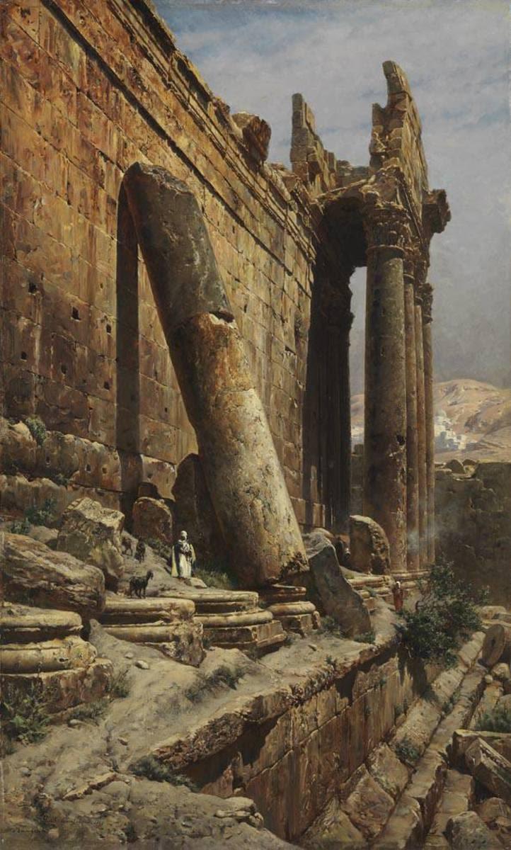 Die Tempelruine in Baalbek